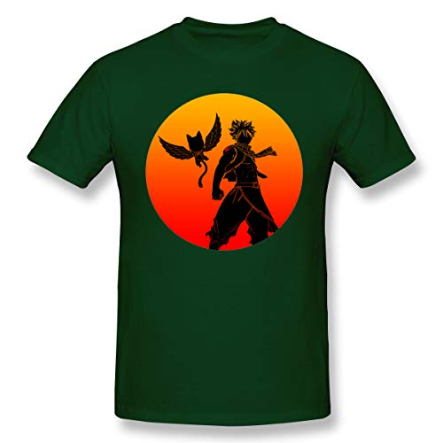 VJJ AIDEAR Fairy Tail 100% Organic Cotton Short Sleeve Tshirts for Mens Forest Green 31