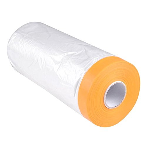 3.6ft x 82ft Adhesive Masking Film Tape Poly Surface Painting Protection - Films Singapore