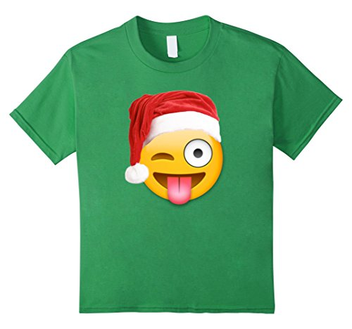 Kids Emoji Christmas T Shirt