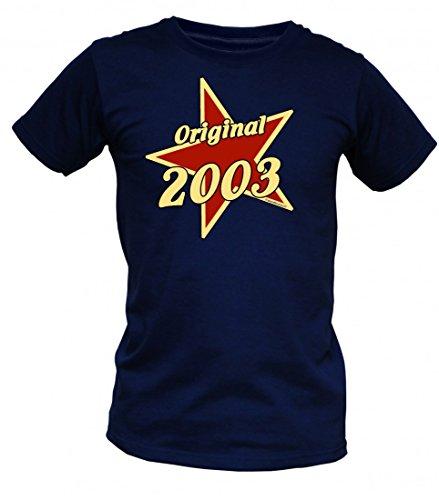 Birthday Shirt - Original 2003 - Lustiges T-Shirt als Geschenk zum Geburtstag - Blau