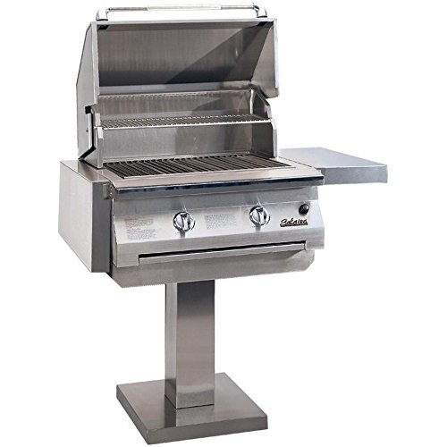 Solaire 30 Inch Infravection Natural Gas Grill On Bolt Down Post - - Infravection Natural 30 Inch Solaire