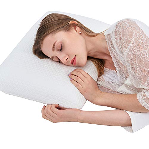 Bed Pillow,Memory Foam Contour Pillows Comfort Sleep Pillow with Removable Cover for Side Sleeper,Neck Pain,Back,Shoulder Pain,Home House Holtel Use
