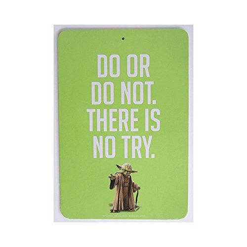 "Star Wars Yoda Novelty Decorative Two-sided Green Sign - ""Do"