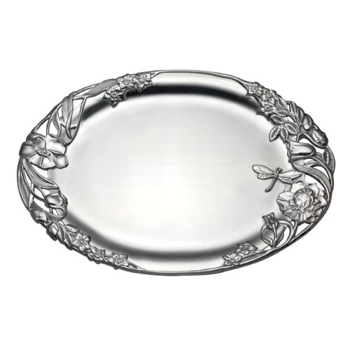 Lenox Floral Romance Oval Tray, Large, (Large Oval Serving Tray)