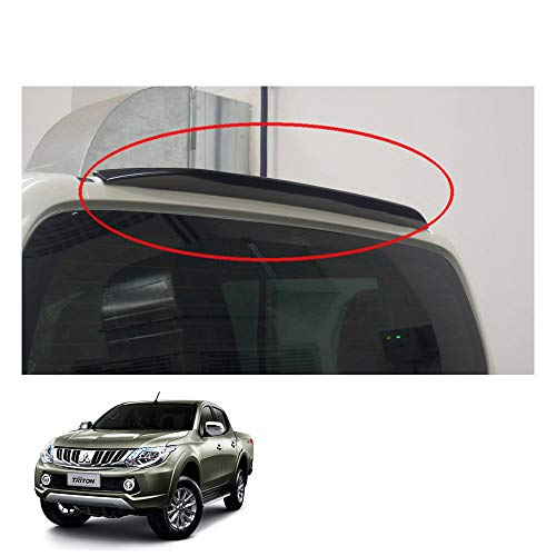 Powerwarauto Rear Roof Spoiler Ducktail Cover Trim for Mitsubishi L200 Triton Medium Matte Black