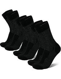 Merino Wool Light Hiking Socks for Men, Women & Kids, Lightweight, Trekking, Outdoor, Cushioned, Breathable, 3 Pack