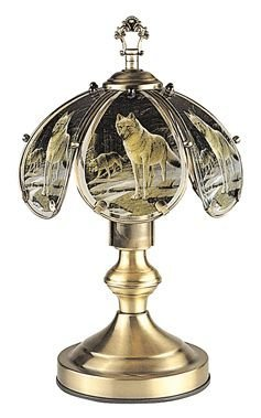 OK LIGHITNG OK-603AB-WO-SP3 14.25 in. Wolf Touch Lamp