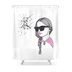 "Society6 Shades Shower Curtain 71"" by 74"""