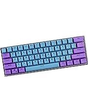 N/A Keycaps, 61 Toetsen PBT Keycaps Backlight Tweekleurig Mechanisch Toetsenbord Keycpas voor Ducky /GH60/RK61/ALT61/Annie/Keyboard Poker Keys (alleen verkopen keycaps)