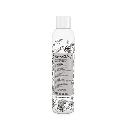 No nothing Very Sensitive Dry Shampoo - Fragrance Free Dry Shampoo, 100% Vegan, Hypoallergenic, Unscented, Gluten Free, Soy Free, 5.3 oz 1
