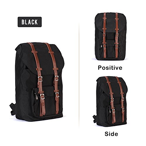 Price comparison product image Laptop Outdoor Backpack,Travel Hiking,Waterproof Backpack,Camping Rucksack Pack,Casual Large College School Daypack,Shoulder Book Bag (Black)