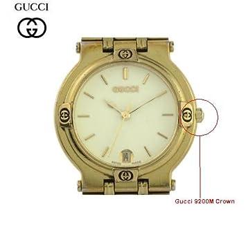gucci 9200m. gucci 9200m gold plate crown 9200m