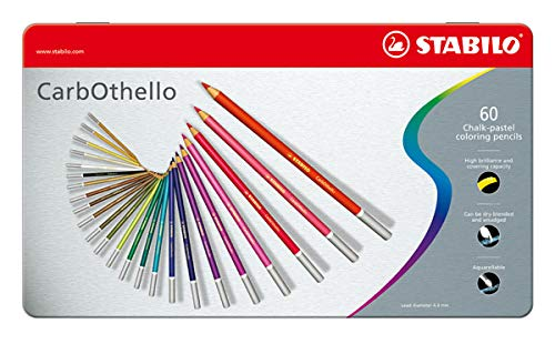 (Stabilo CarbOthello Pastel Pencil, 60-Color Set)