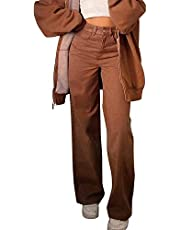Vintage jeans broek vrouwen rechte been broek hoge taille y2k mode broek harajuku broek casual broek