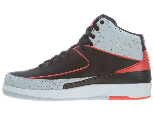 Nike Herren Air Jordan 2 Retro Hallo Top Basketball Synthetik / Stoff Sneakers Schwarz / Infrarot / Eis
