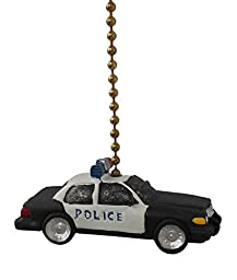 POLICE man CAR Ceiling Fan Pull chain home decor kids