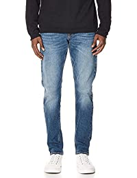 Jeans Mens Slim Jeans, Houston Mid Blue, 36
