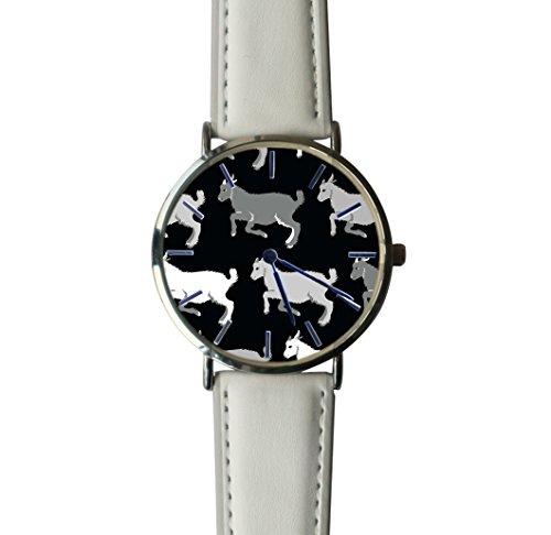 (JISJJCKJSX Gray Goats custom watches quartz watch stainless steel case)