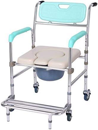 障害者高齢妊娠中の女性のための便器ペダル車椅子シャワーチェア付きトイレチェア