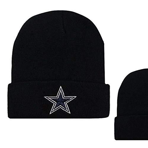 (MT-Sports store Football Team Embroidery Logo Winter Fashion Warm Wool Cap (Dallas Cowboy))