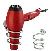 Premium Aluminum Hair Blow Dryer Holder Spiral Practical Wall Mount Hang Shelf