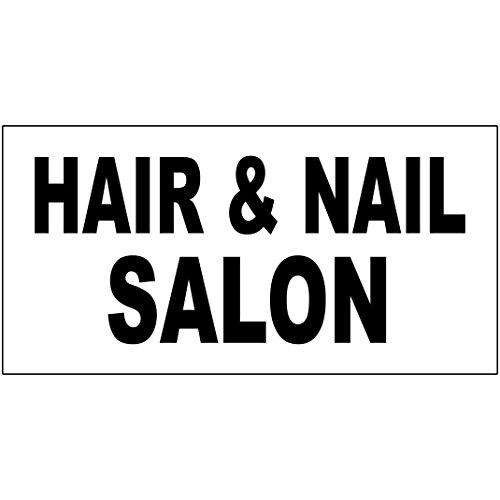 Hair & Nail Salon Black DECAL STICKER Retail Store Sign Sticks to Any Surface