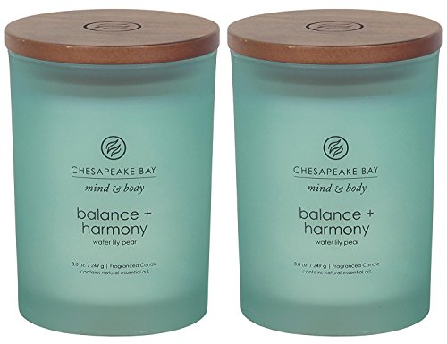 Chesapeake Bay Candle Scented Candles, Balance + Harmony (Water Lily Pear), Medium ()