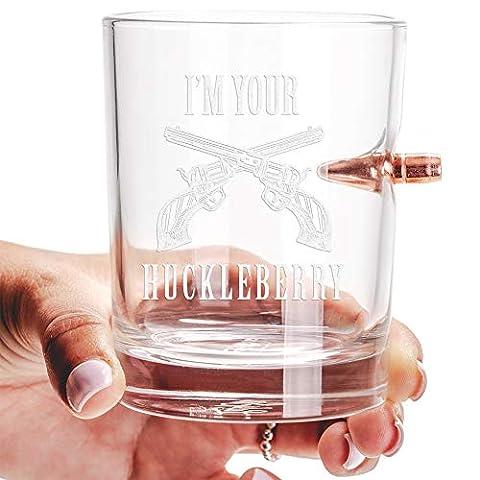 Lucky Shot 308 Bullet 10oz Whiskey Glass | Amendments | Duratuff Treated Borosilicate Glass (2nd)