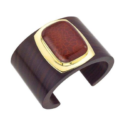 18K Vermeil Rosewood & Carnelian Cuff by AX Jewelry