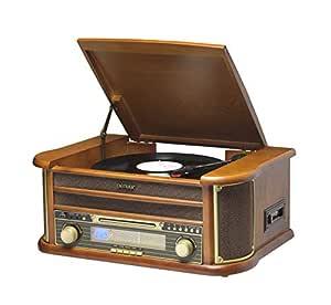 Denver MCR-50 Marrón tocadisco - Tocadiscos (Corriente alterna, 110-230 V, 50/60 Hz, Marrón, 8,5 kg, 490 x 210 x 330 mm)