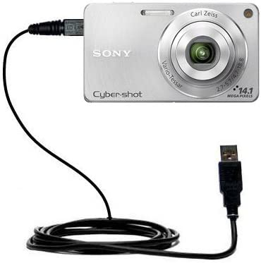 Gomadic USB Straight Data sync Cable Designed for The Sony Cyber-Shot DSC-W330 TipExchange Enabled