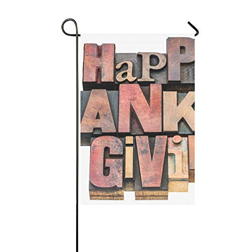- Home Decorative Outdoor Double Sided Happy Thanksgiving Sign Greeting Card Isolated Garden Flag,house Yard Flag,garden Yard Decorations,seasonal Welcome Outdoor Flag 12 X 18 Inch Spring Summer Gift