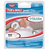 tub and floor sealer trim - Tub and Wall White Sealer Trim Wide 1-5/8 in x 11 ft long