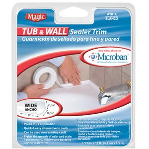 Tub And Wall White Sealer Trim Wide 1 5 8 In X 11 Ft Long