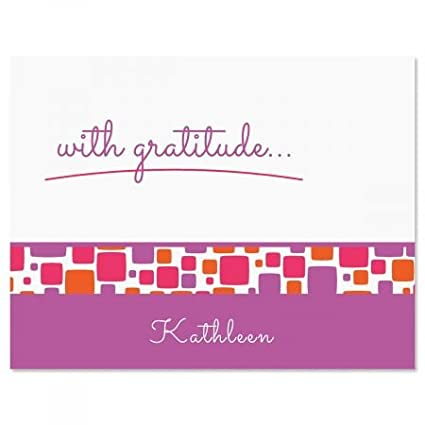 Amazon Com Personalized Noteworthy Thank You Cards 24 Cards With