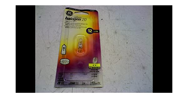 20 Watts General Electric GE GEL97669 Halogen Bulb Pack of 12