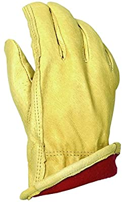 Apollo Performance Gloves Work Glove, Leather Drivers, Pigskin, Thinsulate Liner (40 g), Tan