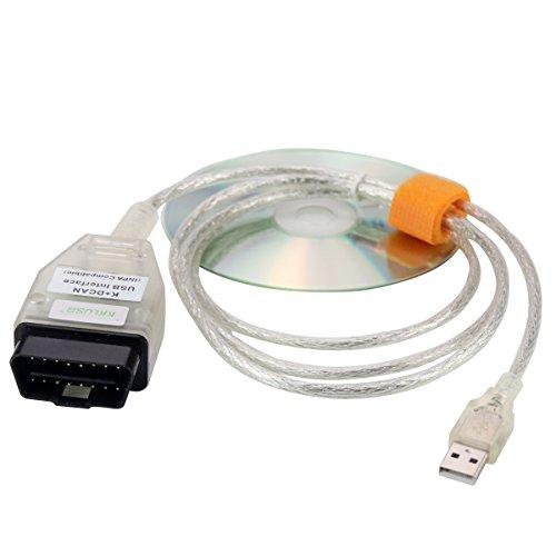 KKLUSB BMW INPA K+Dcan 16 Pin Car Diagnostic Tool Cable OBD2 USB Interface for BMW E Serials