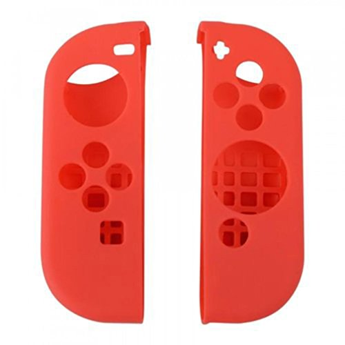 Price comparison product image GBSELL For Nintendo Switch Anti-slip Silicone Cover Skins Case for Joy-Con Controller (Red)