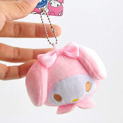 ILUTOY 1 Pc New Lovely Cartoon My Melody Plush Toys Cartoon Animal Stuffed Plush Toy Bag Pendant Keyring for Girls Gift Must-Have Friendship Gifts Boys Favourite Characters Superhero Cupcake Toppers