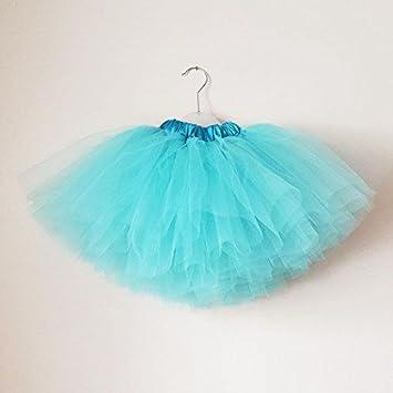 Falda tutu para nina hecha a mano de tul de color azul: Amazon.es ...