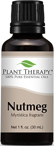 Plant Therapy Nutmeg Essential Oil. 100% Pure, Undiluted, Therapeutic Grade. 30 mL (1 Ounce).