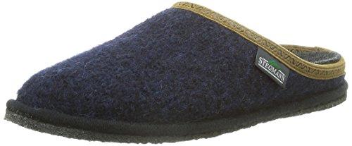 Blue Stegmann Adulte Dark Mules 301 Chaussons Chaud Doublé Mixte Bleu Blau 8971 wOHUw