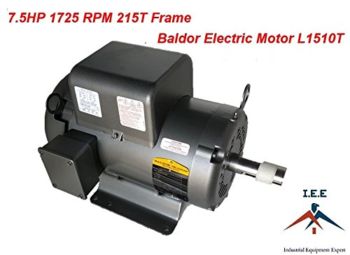 (Baldor 7.5 Hp Electric Motor 1725 RPM 215T Frame 1 Ph Single Phase 208/230)