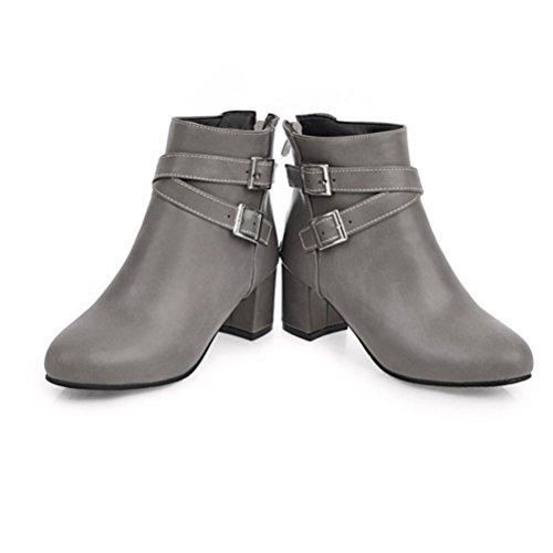 Martin alto Stivali gray con 31 taglia 45 tacco Stivaletti Codice Scarpe College Zip corti di Wind QPYC CtIwqXBx