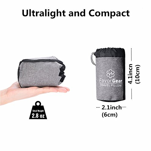 Camping Pillow Ultralight Backpacking Blow Up Pillow Compact and Compressible for Sleeping while Hiking , Travel
