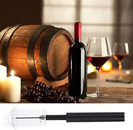Nihlsen Abrebotellas neumático de vino tinto, abridor de botellas de vino a presión de aire, bomba de botella de acero inoxidable, sacacorchos, herramienta de corcho