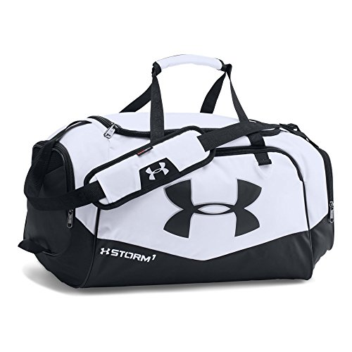 Under Armour Storm Undeniable II Duffle, Small, White/Black
