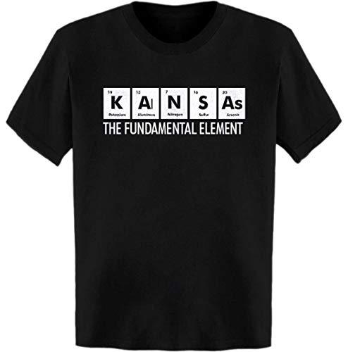 (Kansas The Fundamental Element Periodic Table T-Shirt Black)