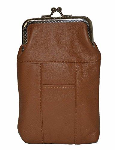 (Leather Cigarette Case Pack Holder Regular or 100's Lighter Pocket by Leatherboss (Tan))